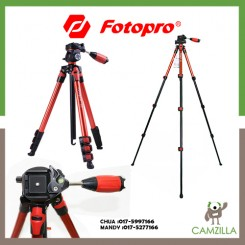 FOTOPRO S3 | ALUMINUM | PHOTO/VIDEO TRIPOD RED